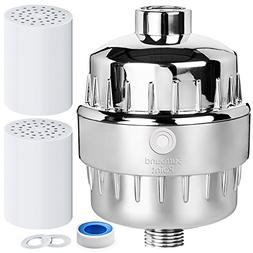10 Stage Shower Water Filter Softener With 2 Replaceable Car