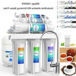 100GPD UnderSink 6Stage AK RO Drinking Filtration System Wat