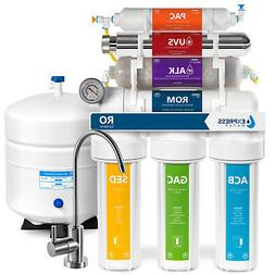 11-Stage Reverse Osmosis Water Filtration System UV Ultravio