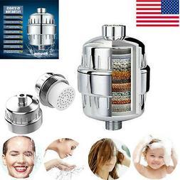 15 Stage Shower Head Filter Cartridge Water Softener Purifie