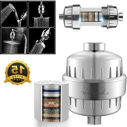 15 Stage Shower Head Filter Purifier + Filter Cartridge For