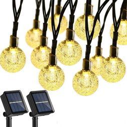 Brizled 2 Pack Solar String Lights, 21.33Ft 30 Led Solar Glo