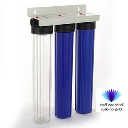 """20"""" 3 Stage Whole House Hard Water Softener Filter System,"""