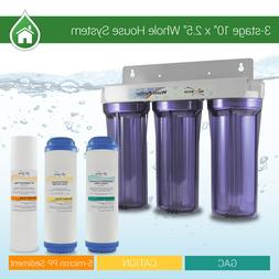 """3 Stage 10"""" Whole house water Softening Filter, softener, re"""