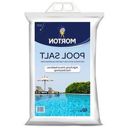 MORTON SALT 3460 Pool Salt, 40 lb
