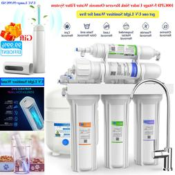 5-Stage 100GPD Reverse Osmosis Drinking Water Filter System