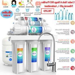 Under Sink 6Stage Water Filter Softener Alkaline Mineral pH+