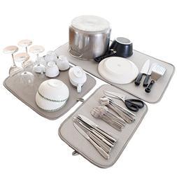 Coop Home Goods 3 Pack Reversible Microfiber Dish Drying Mat