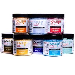 Rx Therapy Scented Aromatherapy Bath Salts-4 Oz Bottles, Pac