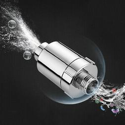 ABS In Line Water Filter Purifier Faucet Shower Head Softene
