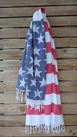 American Flag, jacquard, 100% High Quality Turkish Cotton, H