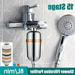 Bath Shower Purifier Removes Head Filtration Filter Hard Wat