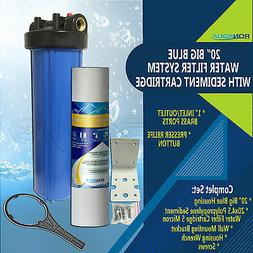 "20"" Big Blue Water Filter Purifier System with 5 Micron 4.5"