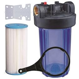 """10"""" Big Blue Whole House Water Filter 5 Micron Pleated Sedim"""