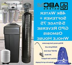 ABCwaters built Fleck 5600sxt 48k Water Softener System + Re