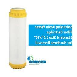 """Cation Softening Resin Water Filter Cartridge 2.5""""x10"""" Hardn"""