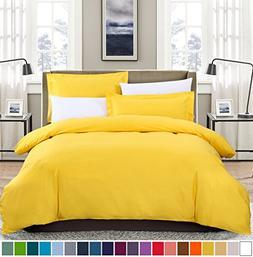 SUSYBAO 3 Pieces Duvet Cover Set 100% Cotton King Size 1 Duv