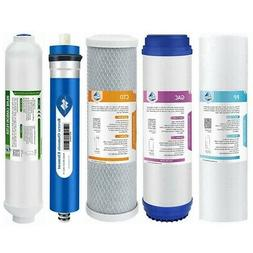 5Pack RO Water Filter System Household 75GPD Replacement for