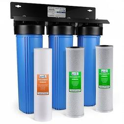 ISpring 3 Stage 20 Inch Big Blue Whole House Water Filter Sy
