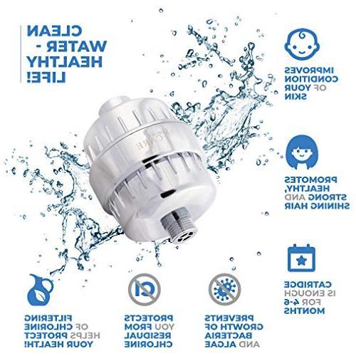 10-Stage Shower Filter Shower Filter Chlorine - Water Filter Softener - Cartridges - For Head