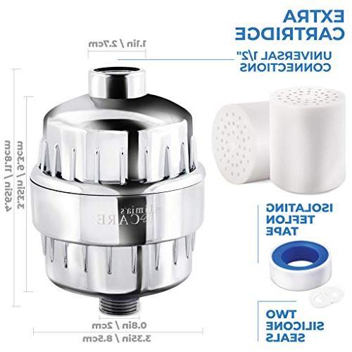 10-Stage Shower Shower Chlorine Water - Softener - - 2 Cartridges For Shower