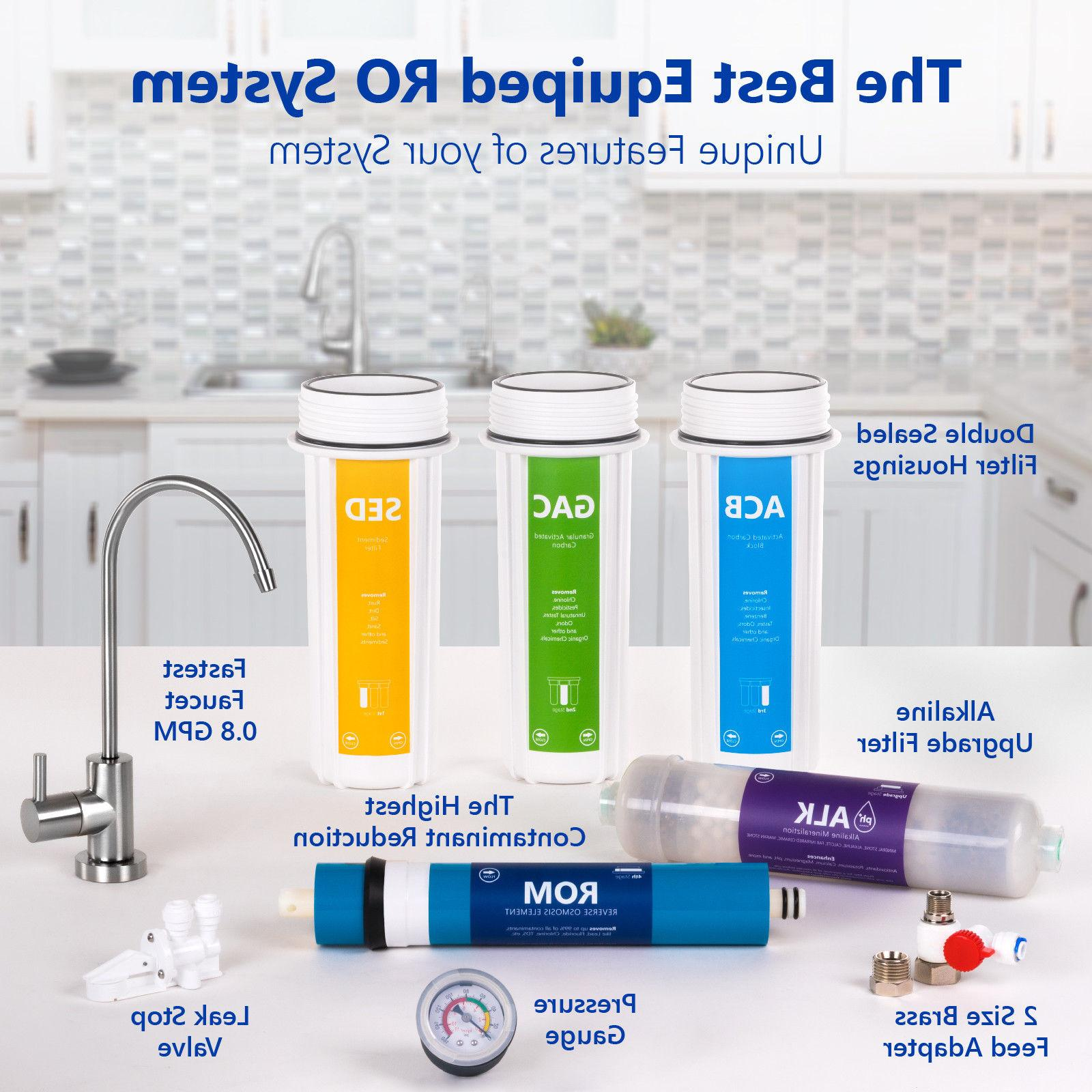 10-Stage Reverse Osmosis Alkaline Mineral Filter System