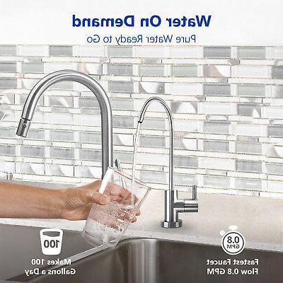 10-Stage Undersink Reverse Osmosis Alkaline Water System GPD