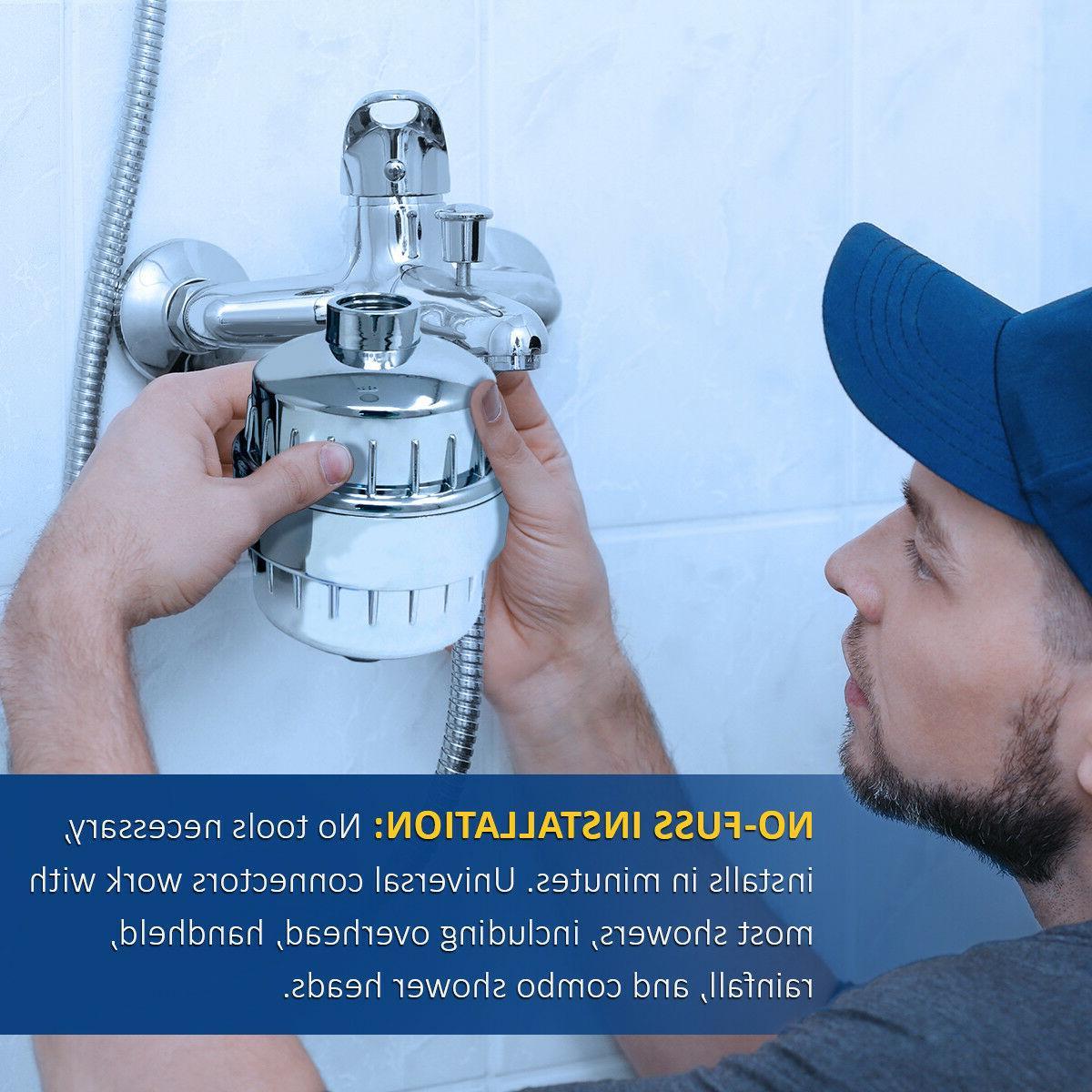 Shower Pro 10-Stage Shower Water 2 Cartridges Chlorine
