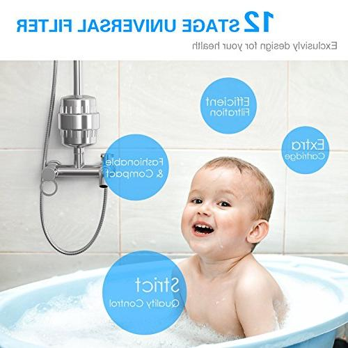 ASEL Shower Filter Water Purifier Softener Fit Shower Chlorine for Hair Health