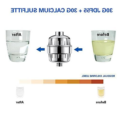 ASEL 12-Stage Shower Filter Water Purifier Hard Water Softener Fit and Chlorine Fluoride for & Skin Health