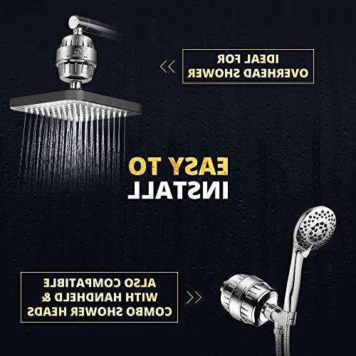 AquaHomeGroup Powerful 12 Shower Hard Water Cartridges Fluoride, Lead & | Consistent Showerhead | Hair &