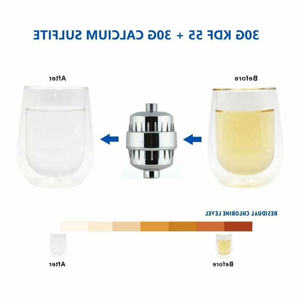 Bath Shower Head Water Filter Softener Cartridge Purifying Chlorine 2 Cartridges