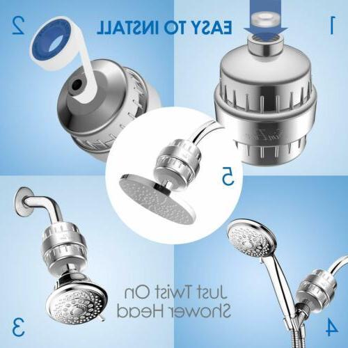 4 Shower Hard Water Softener Remove Chlorine & Flouride