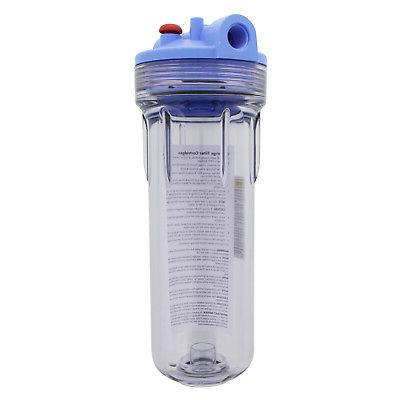 Pentek 158623 Standard Clear 10 x 2.5 Inch Water Filter Hous