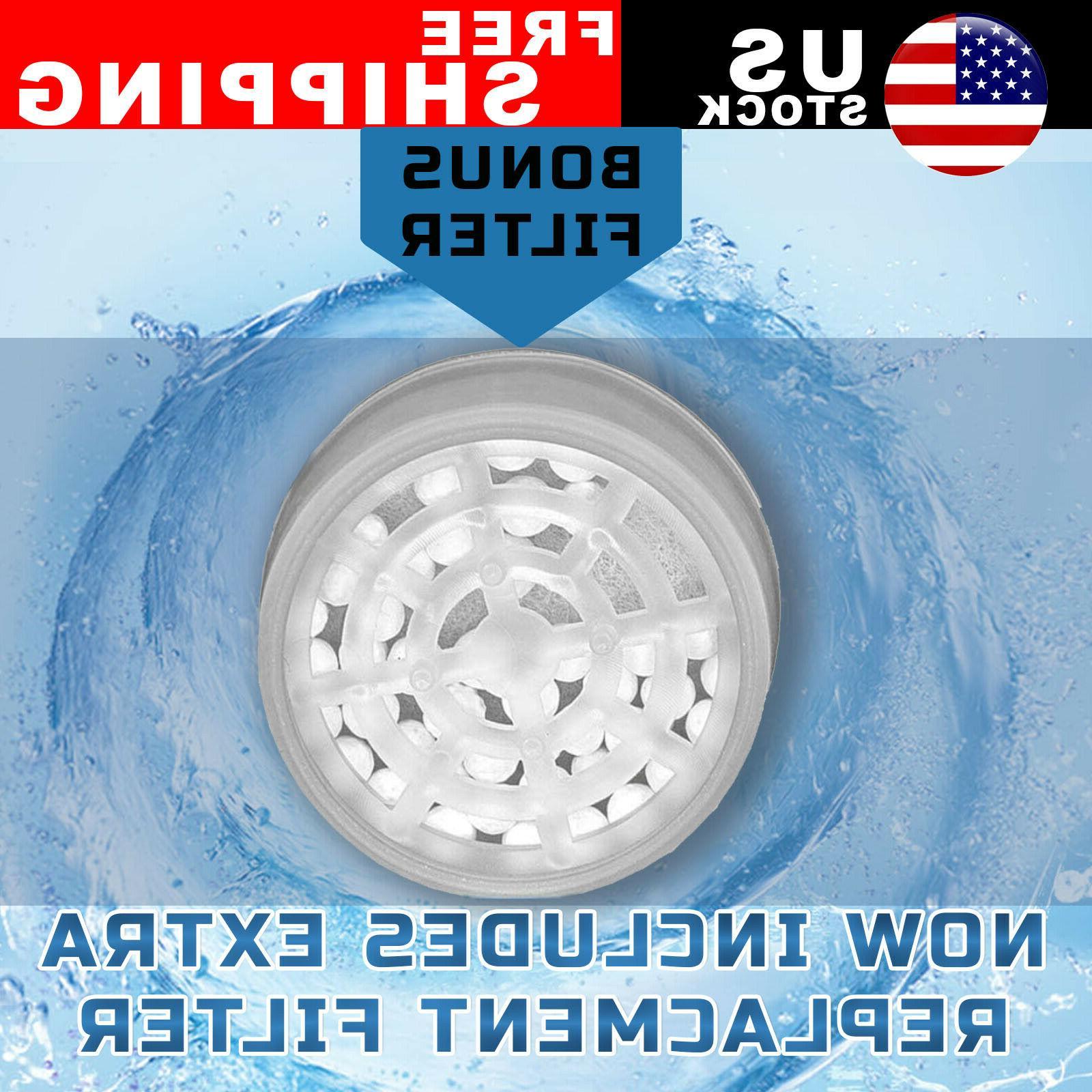 3 Mode High Shower Head Filter Water Softener