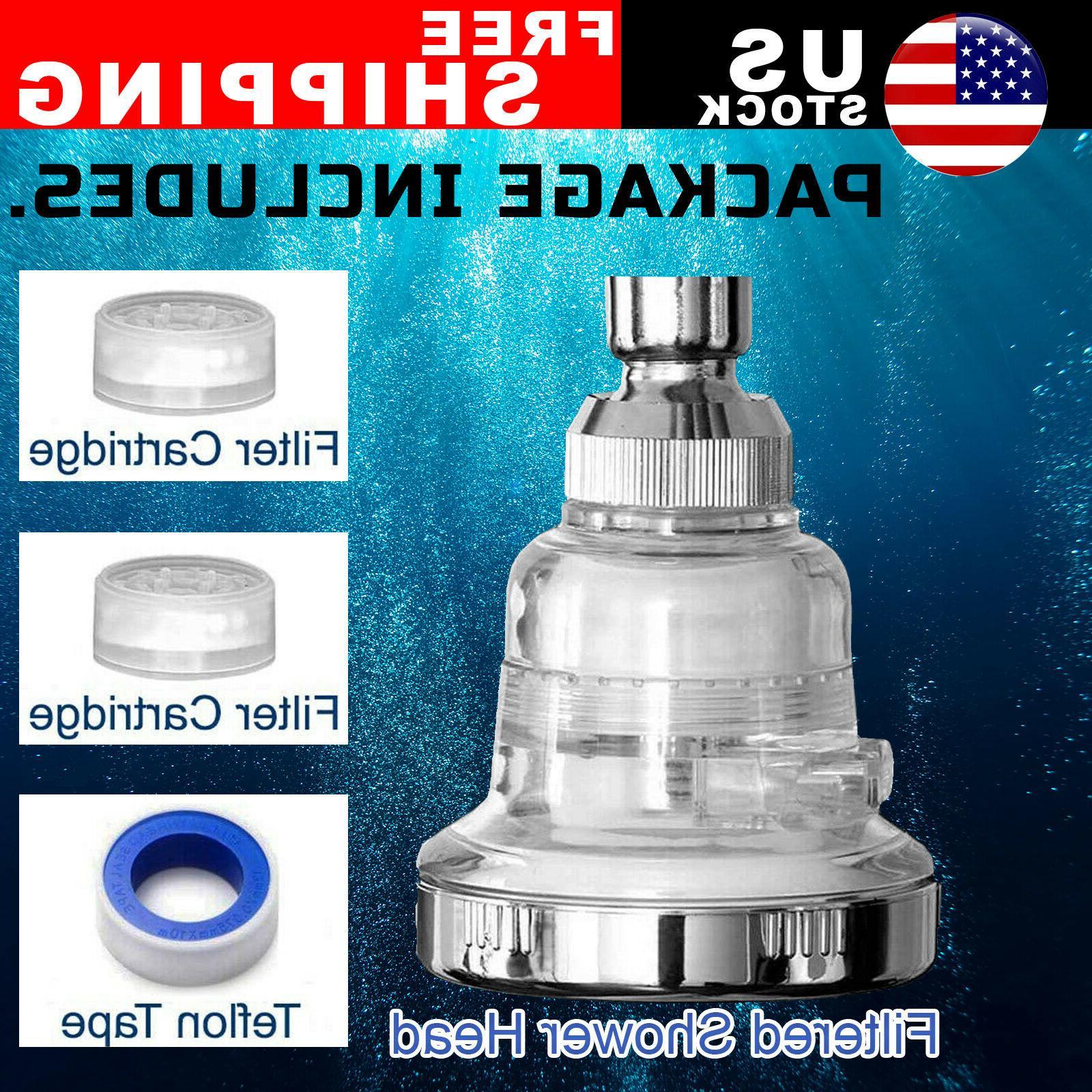 3 mode high pressure shower head filter