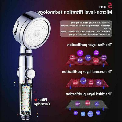 3 Shower Head Filter Water Softener Stone