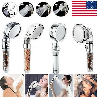 3 spray high pressure shower head filter