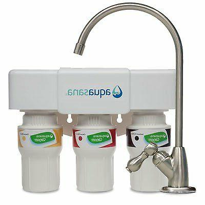 Aquasana 3-Stage Under Sink Water Filter System with Brushed