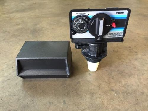 5600 metered water softener valve with cover