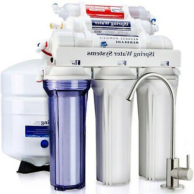 6 stage 75gpd reverse osmosis ro water