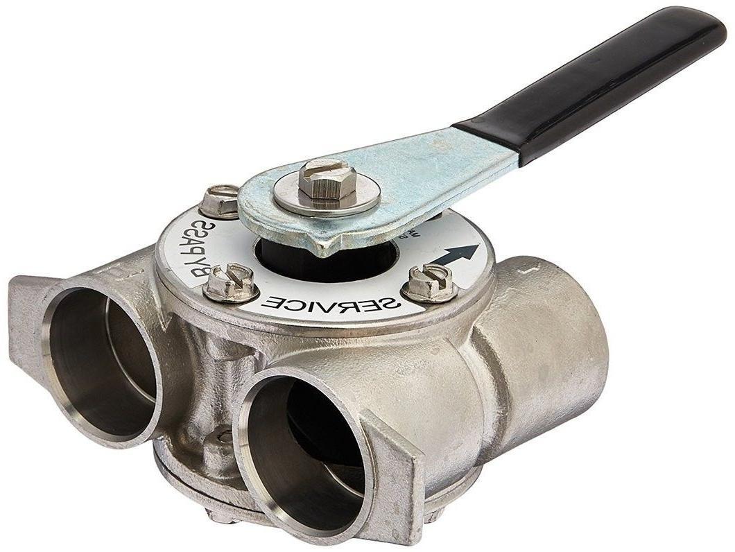 "Fleck 60041SS stainless steel water softener 1"" Bypass Valve"