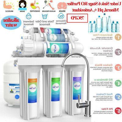 under sink 6stage water filter softener alkaline