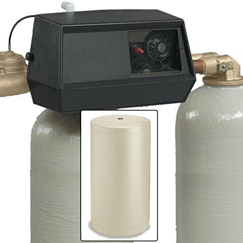 Fleck 64k 9000 dual tank water softener 64,000 grain with 90