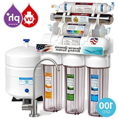 alkaline ultraviolet reverse osmosis filtration