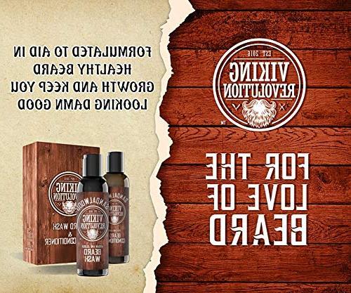 Beard Conditioner w/Argan & Jojoba - & Strengthens - Natural Shampoo w/Beard Oil