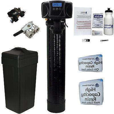 black digital water softener 24 kilograin capacity