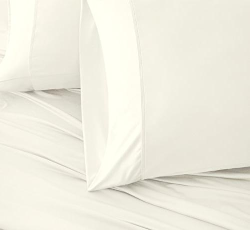 SHEEX Breezy Cooling Sheet Set 2 Pillowcases, Ultra-Lightweight, Breathable, Fabric a Cool and Comfortable Ivory