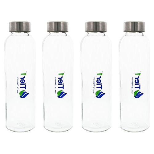 Tier1 Compatible 48,000 Grain Capacity Water 4-Stage Drinking Water System and Glass Bottles
