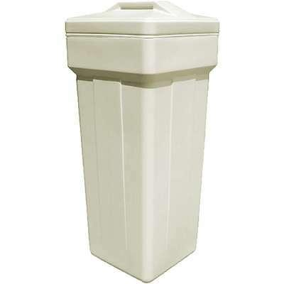 """Complete square brine tank for water softener 15x33"""" with sa"""